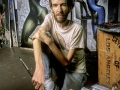 Artist Jim Barrett in his studio, Santa Monica CA 1980's.