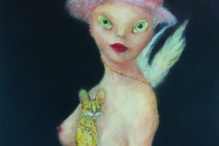 Allois_Lucy_2018_oil on wood_40 x 30 in