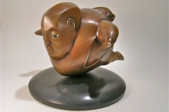 Linder_Allen_Man_in_FreeFall_bronze_on_marble_base_6x8x8