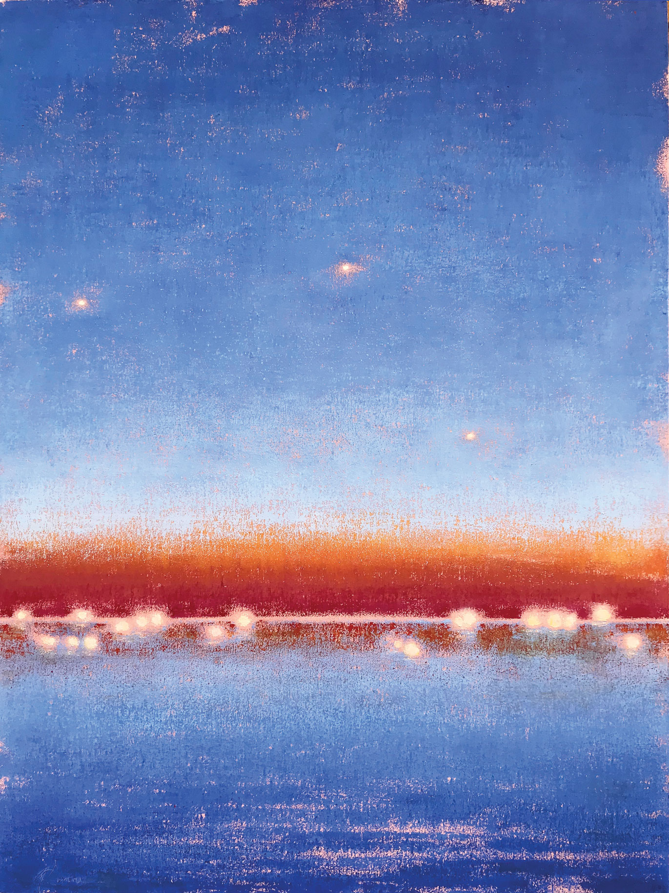 ©Gay-Summer-Rick_Night-Lights-From-the-Highway_Oil-on-Canvas_40x30in_web