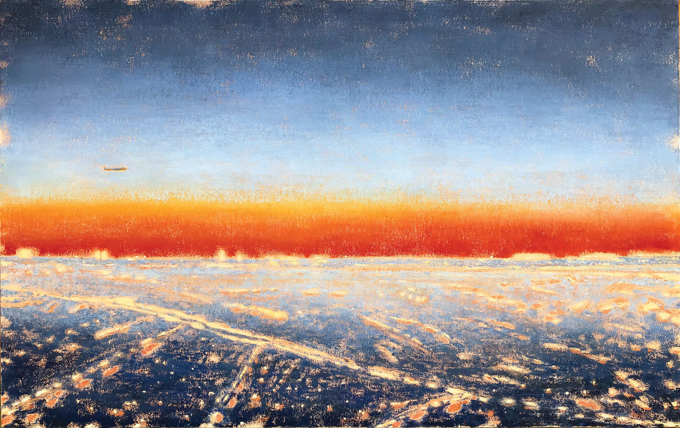 ©Gay-Summer-Rick_Window-Seat-to-JFK_Oil-on-canvas_30x48in_np_web